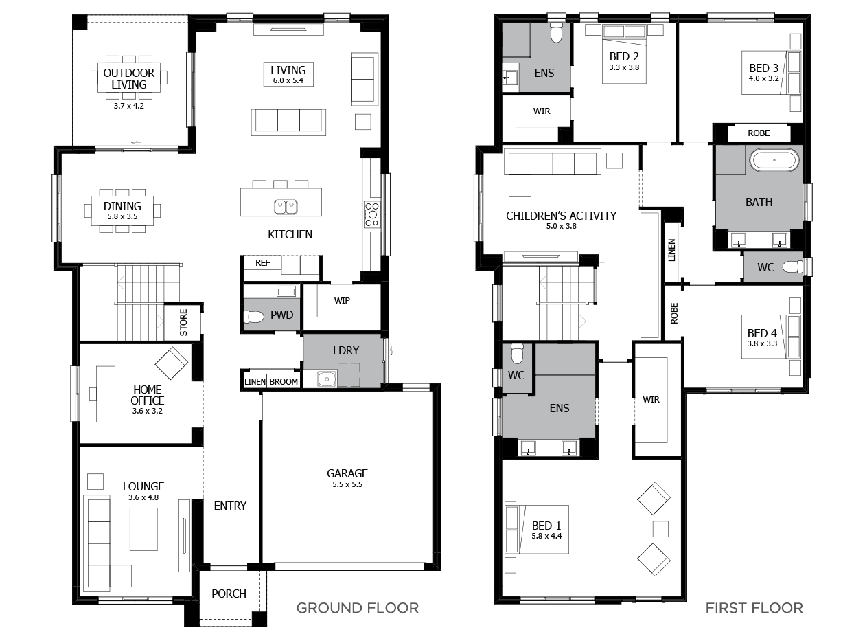 Melody Double Storey House Design With 4 Bedrooms Mojo Homes