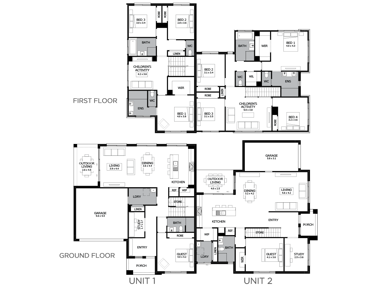 Albion-Duplex house plan