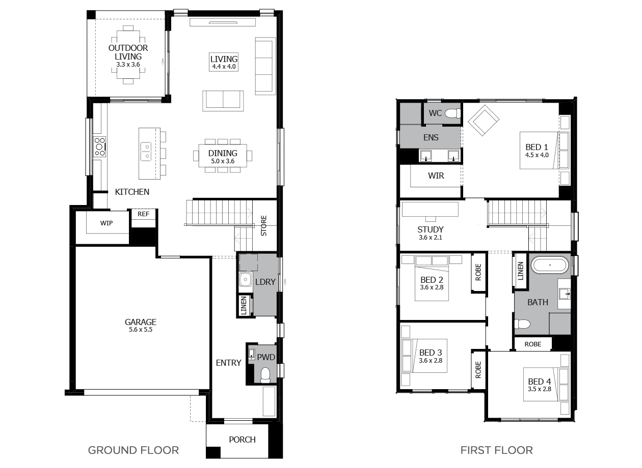 Applause 26-Double Storey House Design-4 Bedroom