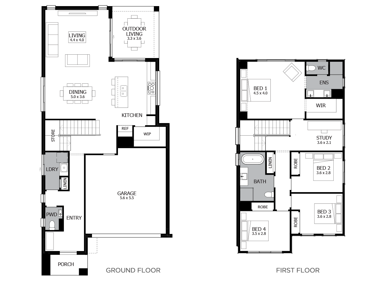 Applause 28-Double Storey House Design-4 Bedroom