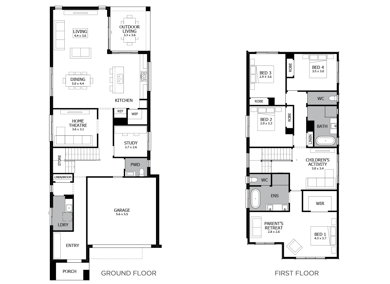 Applause 32-Double Storey House Design-4 Bedroom
