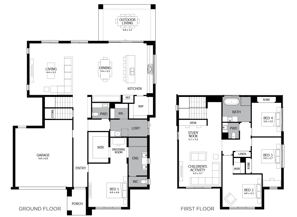 Aria 37-Double Storey House Design-5 Bedroom