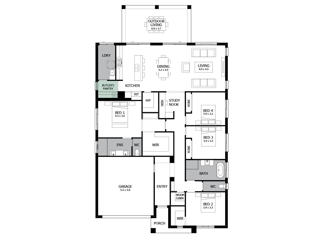 Atrium 28-Single Storey house design-Butler's Pantry