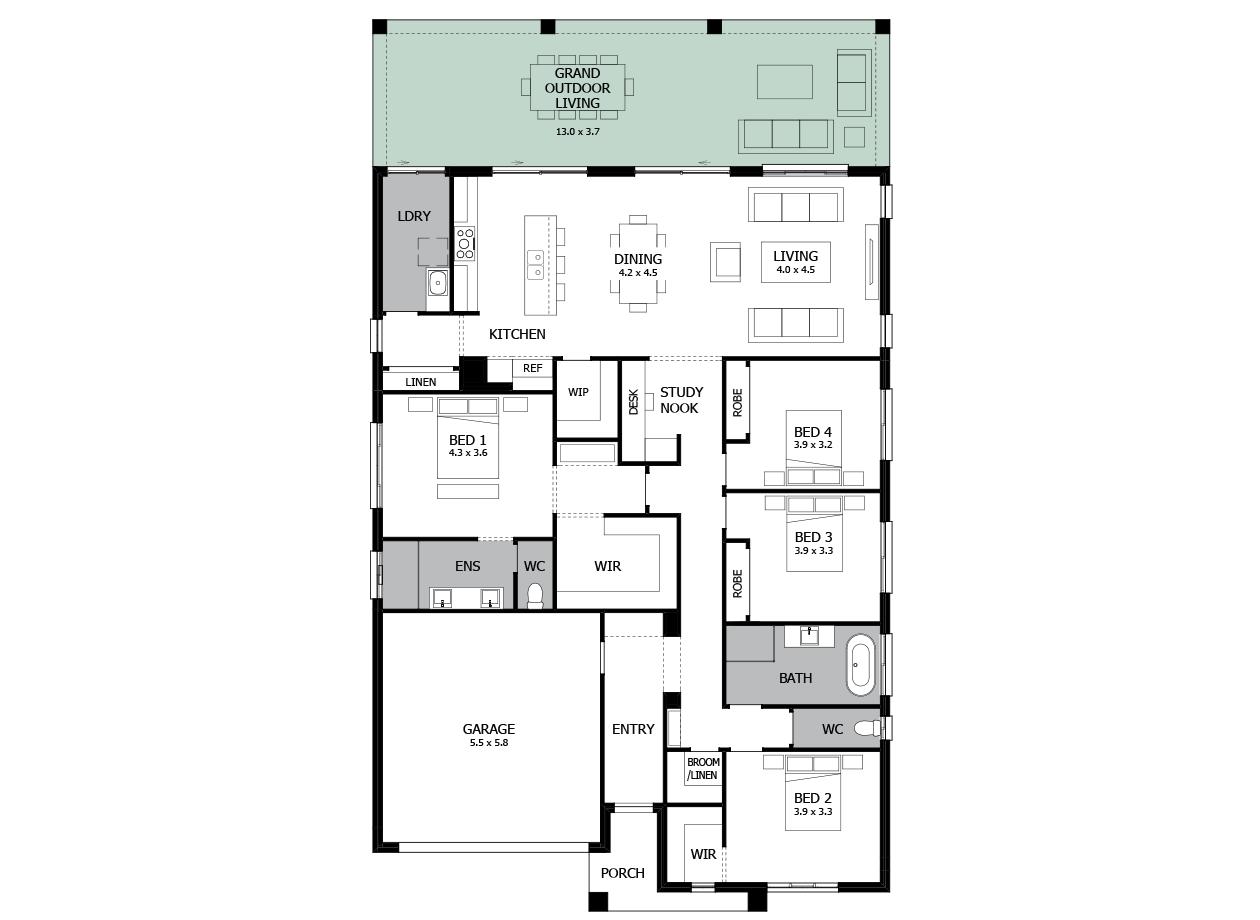 Atrium 28-Single Storey house design-Grand Outdoor Living