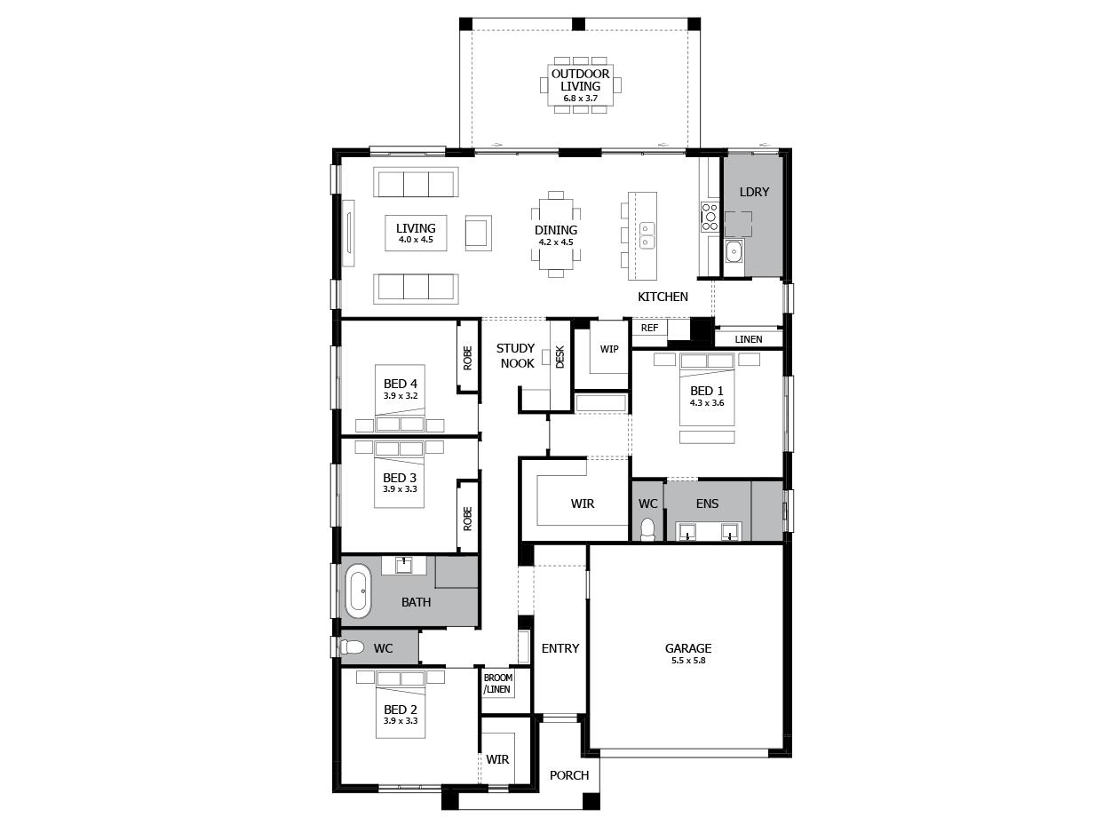 Atrium 28-Single Storey house design