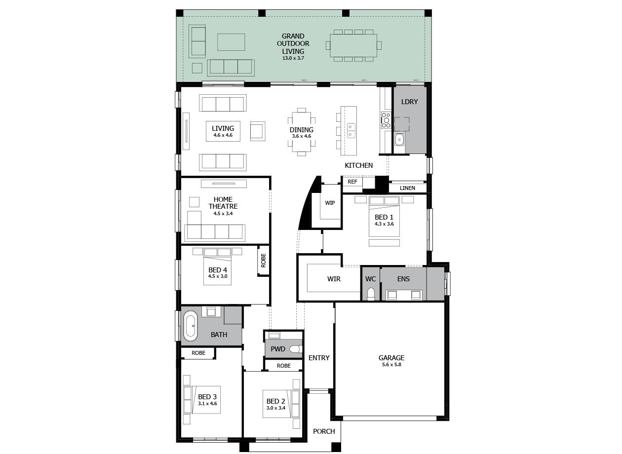 Atrium 29-Single storey house design-Option 2-Grand Outdoor Living