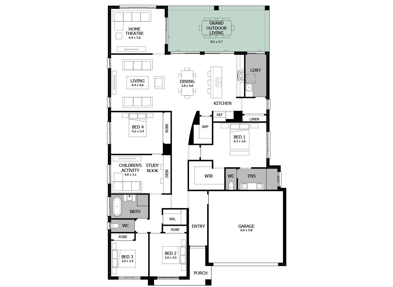 Atrium 31-Single storey house design-Option 2
