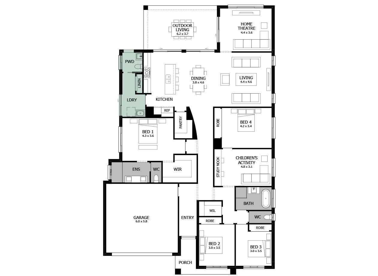 Atrium 31-Single storey house design-Option 3