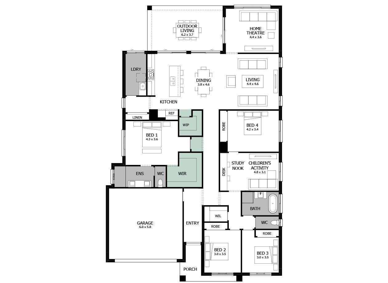 Atrium 31-Single storey house design-Option 4
