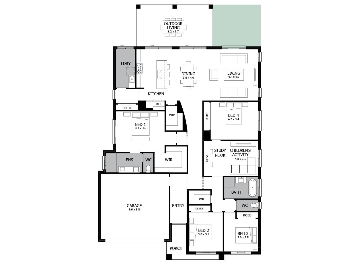 Atrium 31-Single storey house design-Option 5