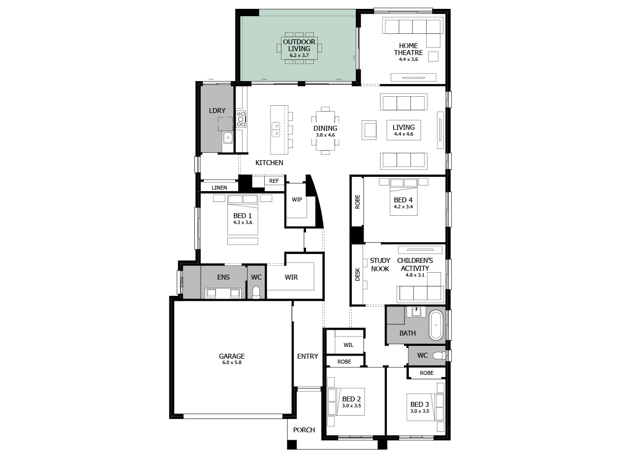 Atrium 31-Single storey house design-Option 6
