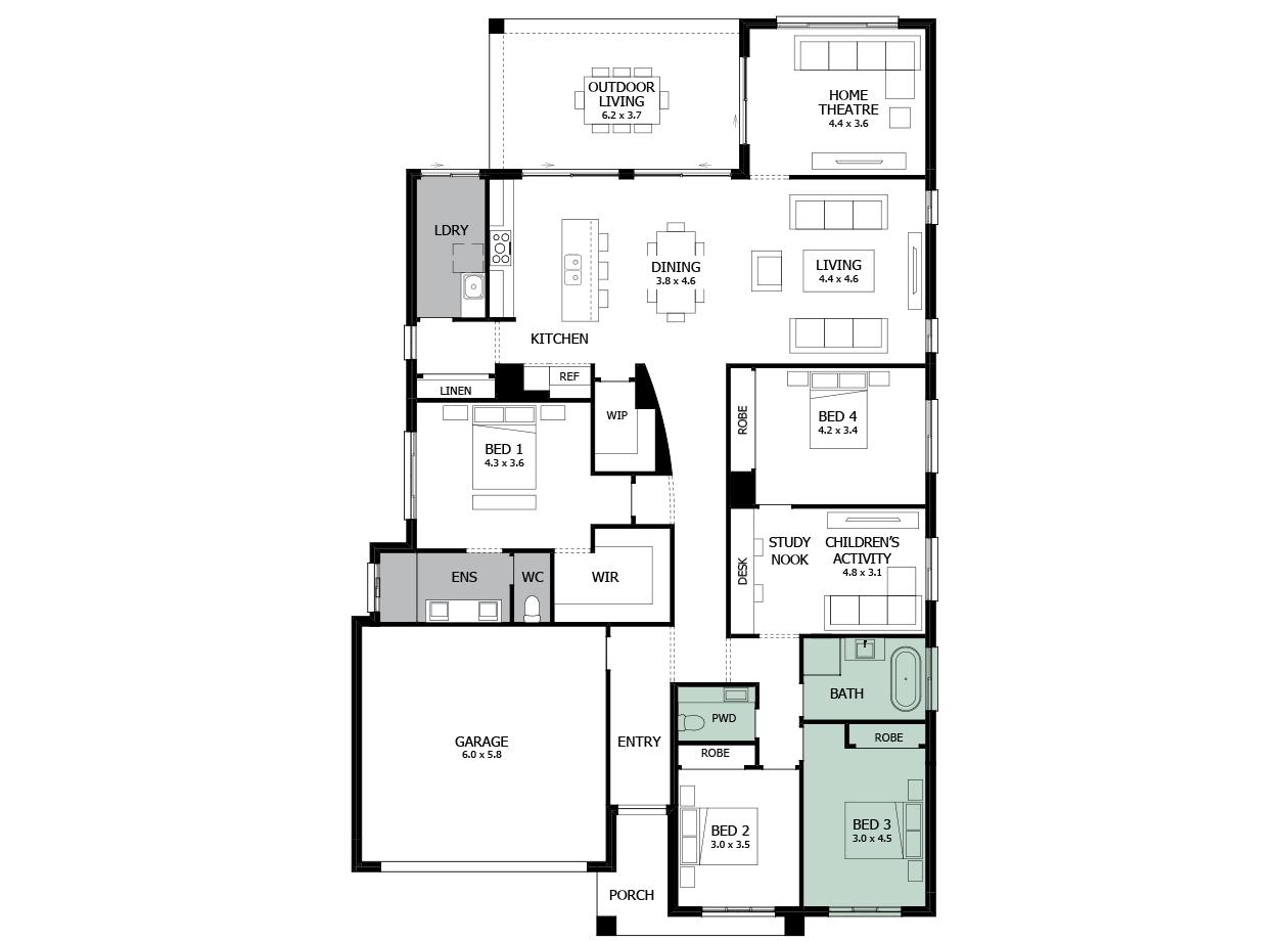 Atrium 31-Single storey house design-Option 7