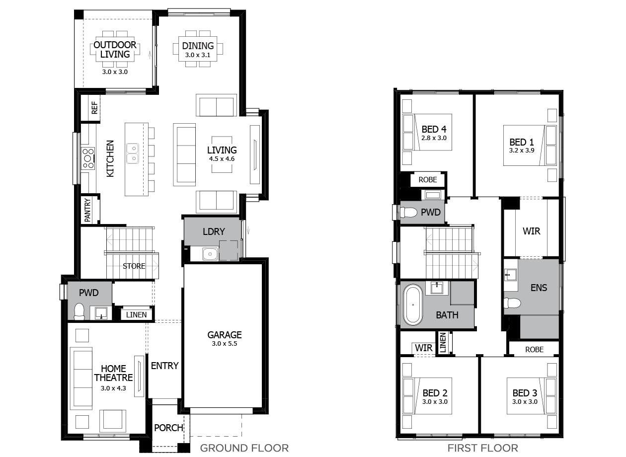 Avoca 22-Double Storey House Design-4 Bedroom