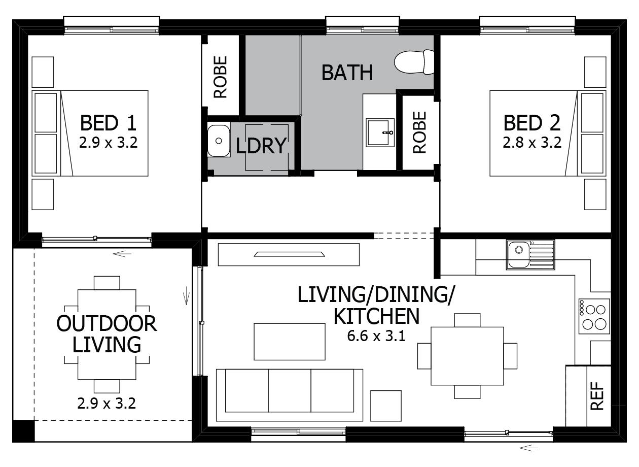 Banksia-Granny Flat House Plan