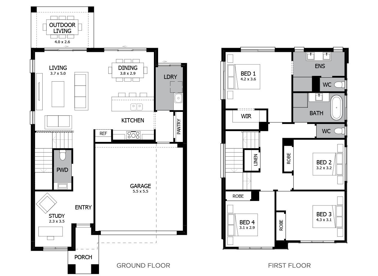 Capri 25-Double Storey House Design-4 Bedroom