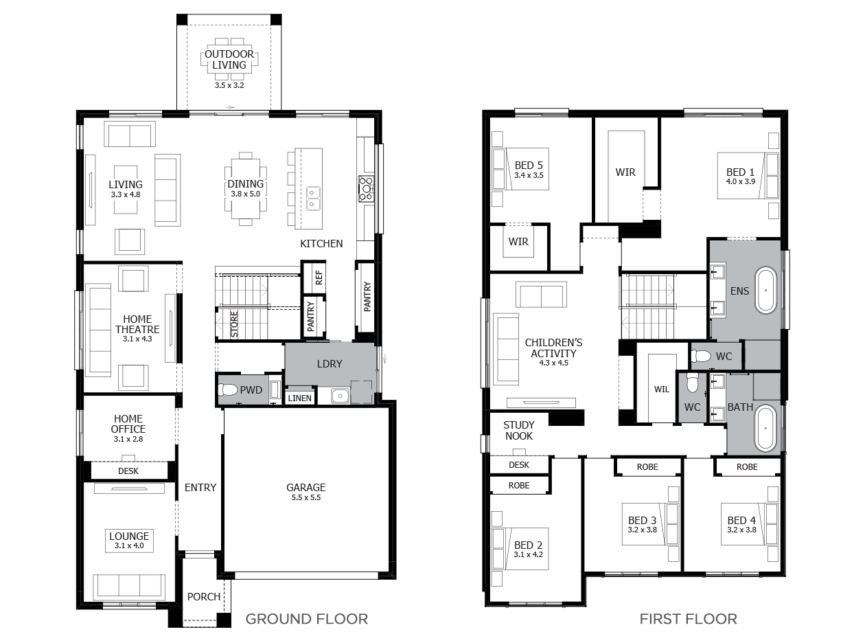 Charisma 37-Double Storey House Design-5 Bedroom