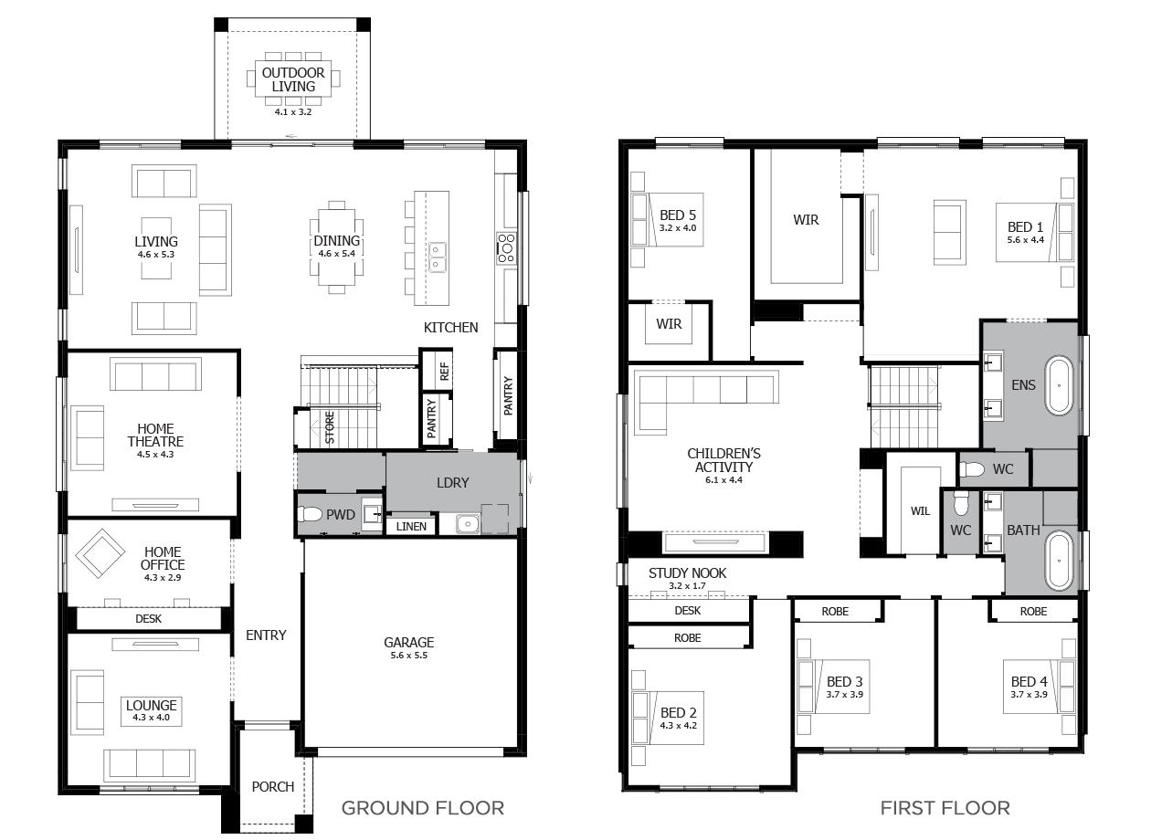 Charisma 46-Double Storey House Design-5 Bedroom