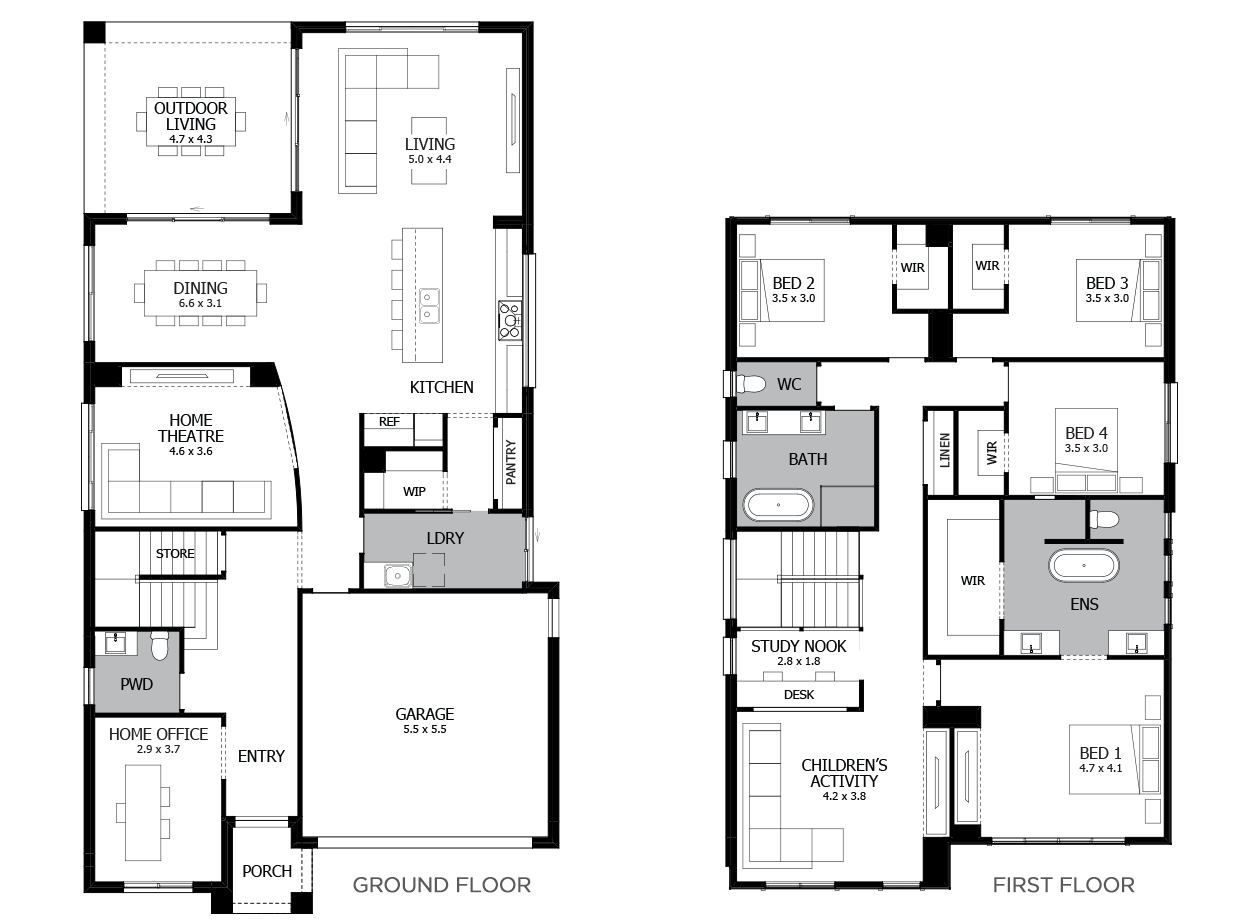 Chevron 37-Double Storey House Design-4 Bedroom