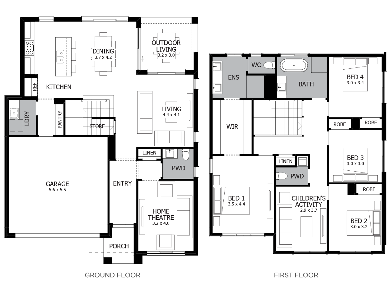 Clovelly 27-Double Storey House Design-4 Bedroom