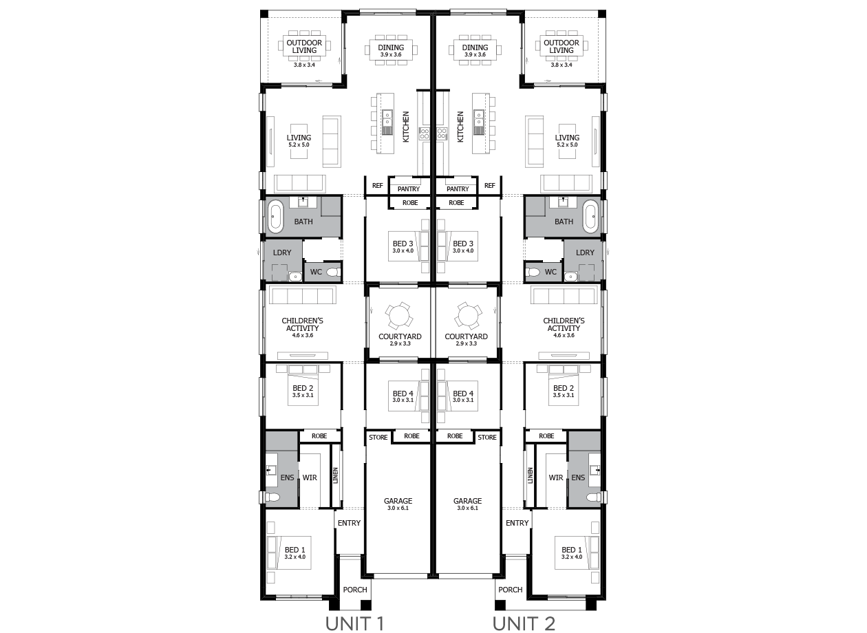 Cumberland-Duplex house plan