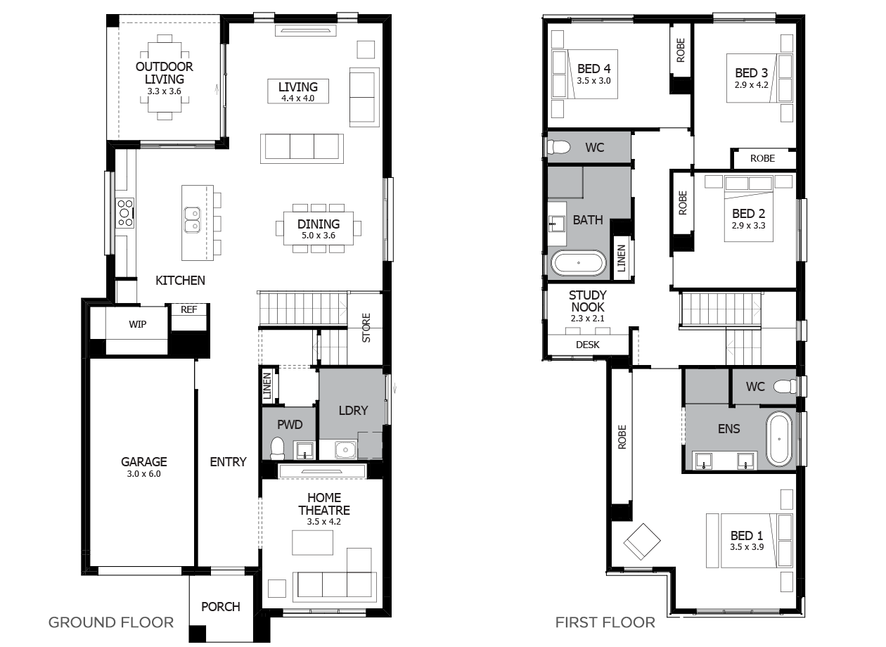 Encore 28-Double Storey House Design-4 Bedroom