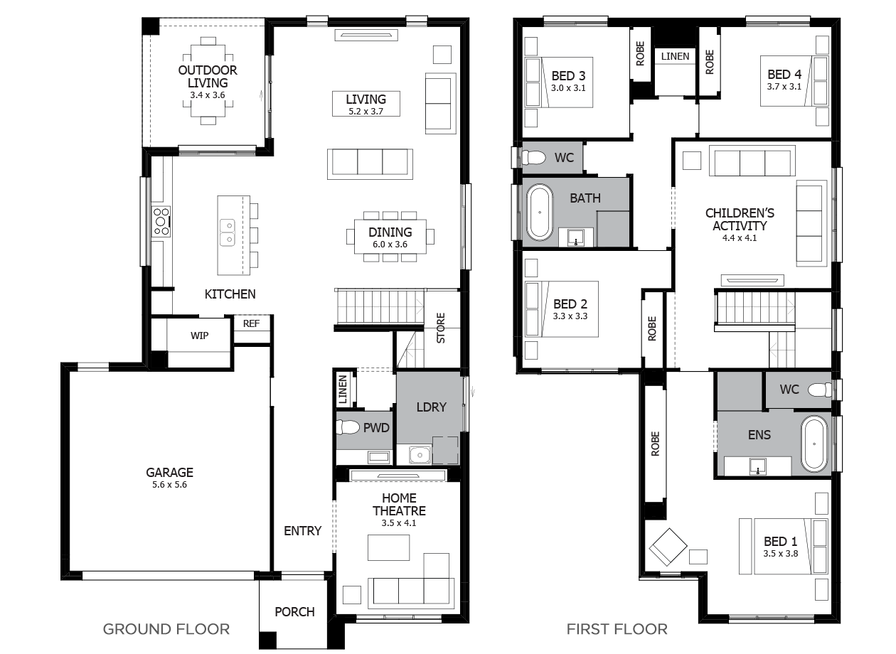 Encore 32-Double Storey House Design-4 Bedroom