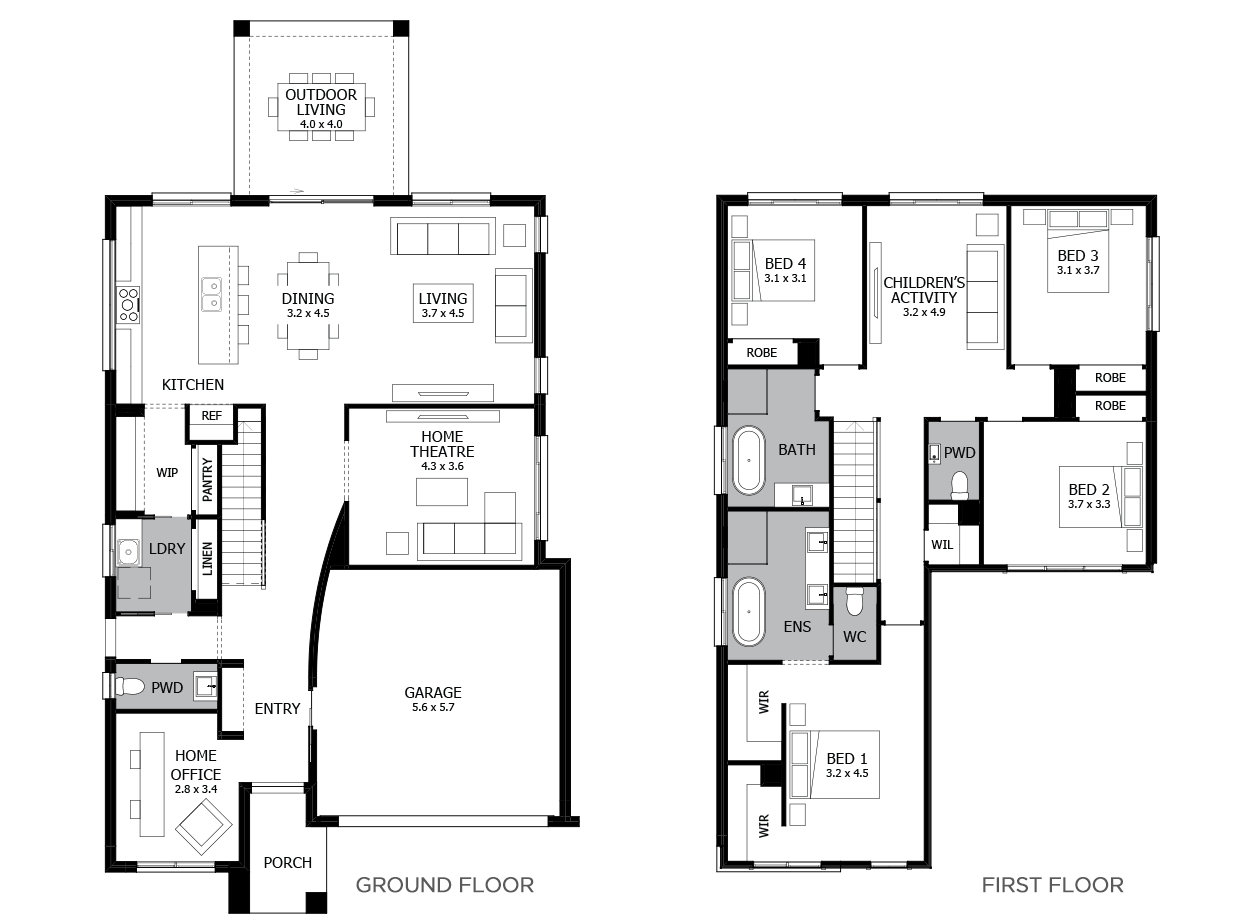 Enigma 31-Double Storey House Design-4 Bedroom