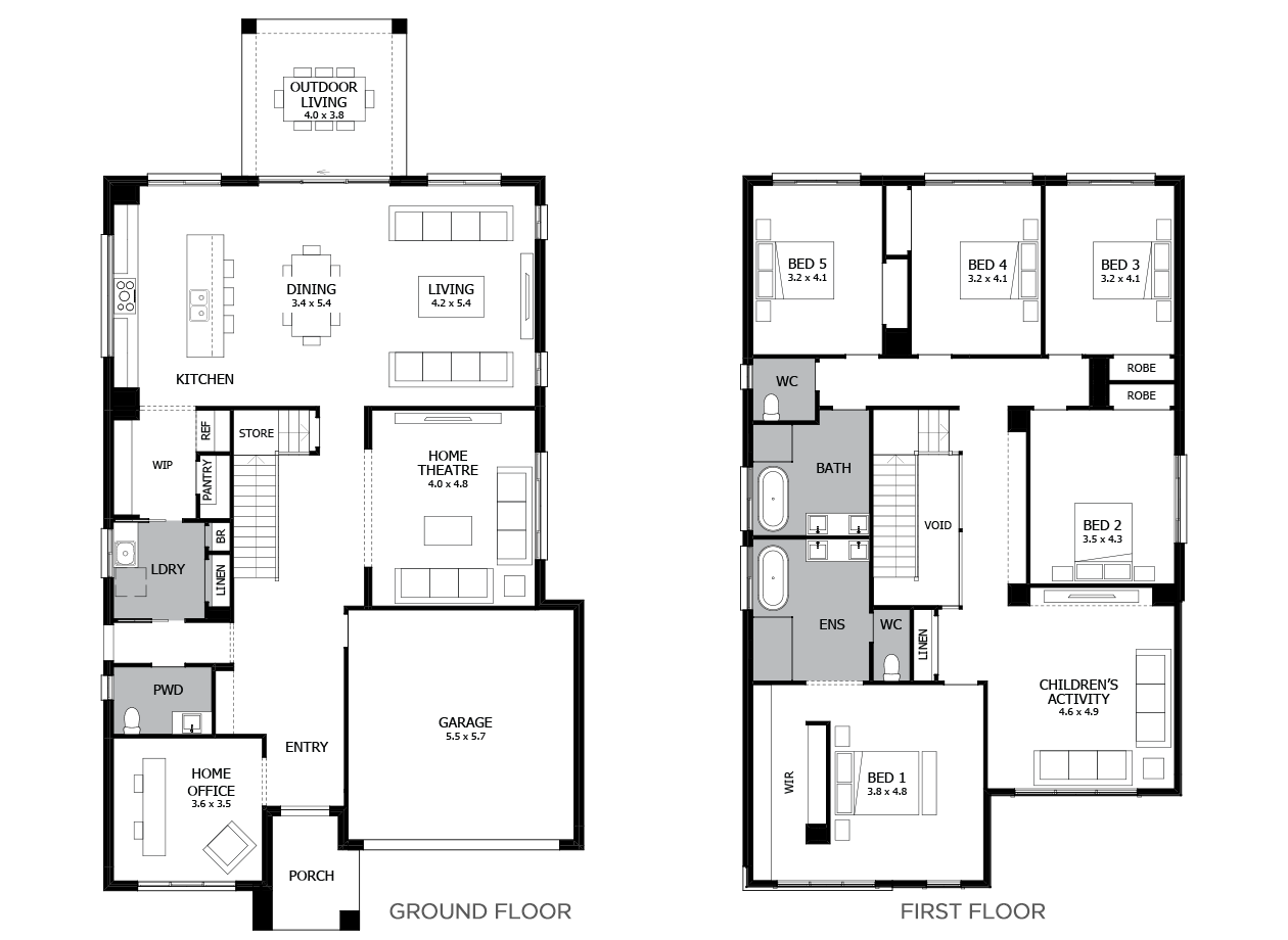 Enigma 41-Double Storey House Design-5 Bedroom