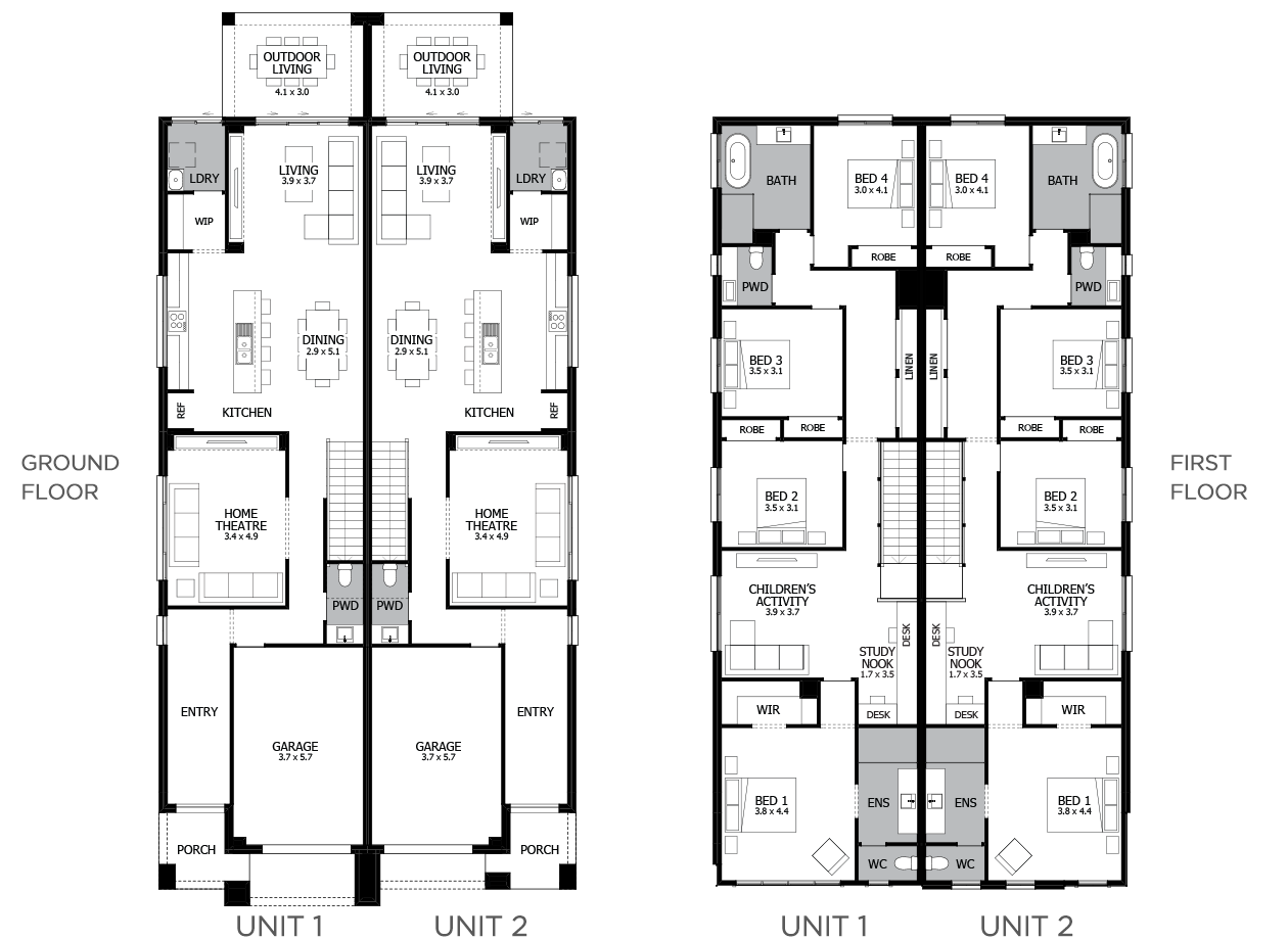 Essex 2-Duplex house plan