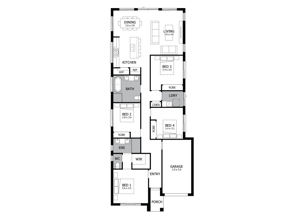 Alpha 17 Floor Plan - MOJO HOMES
