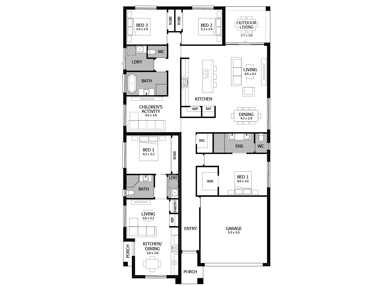 Harmony 29-Dual Living House Plan