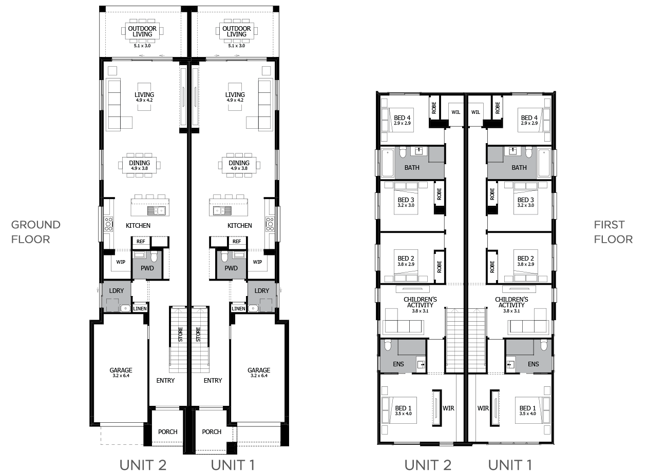 Harrington-Duplex house plan