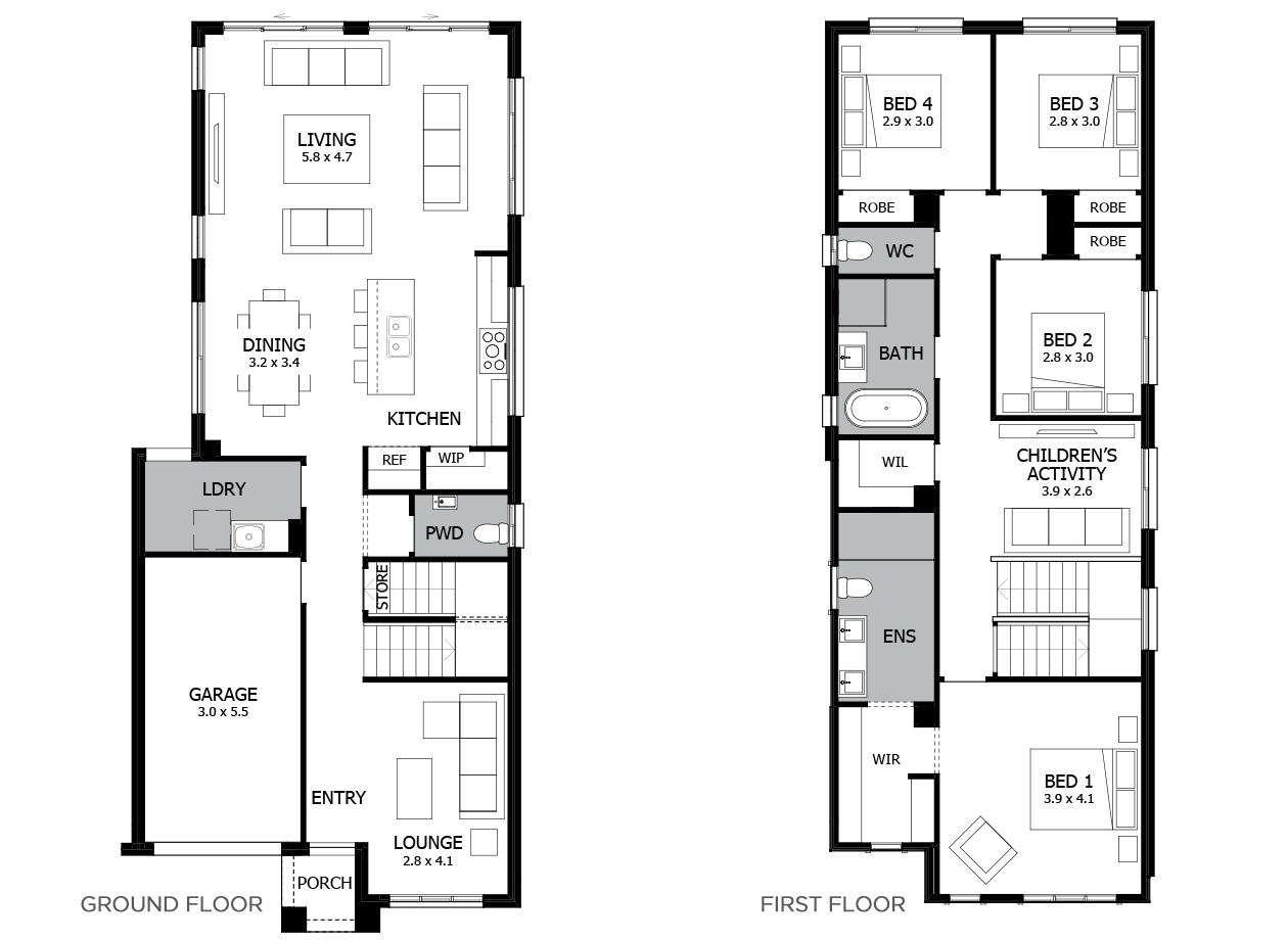 Haven 23-Double Storey House Design-4 Bedroom