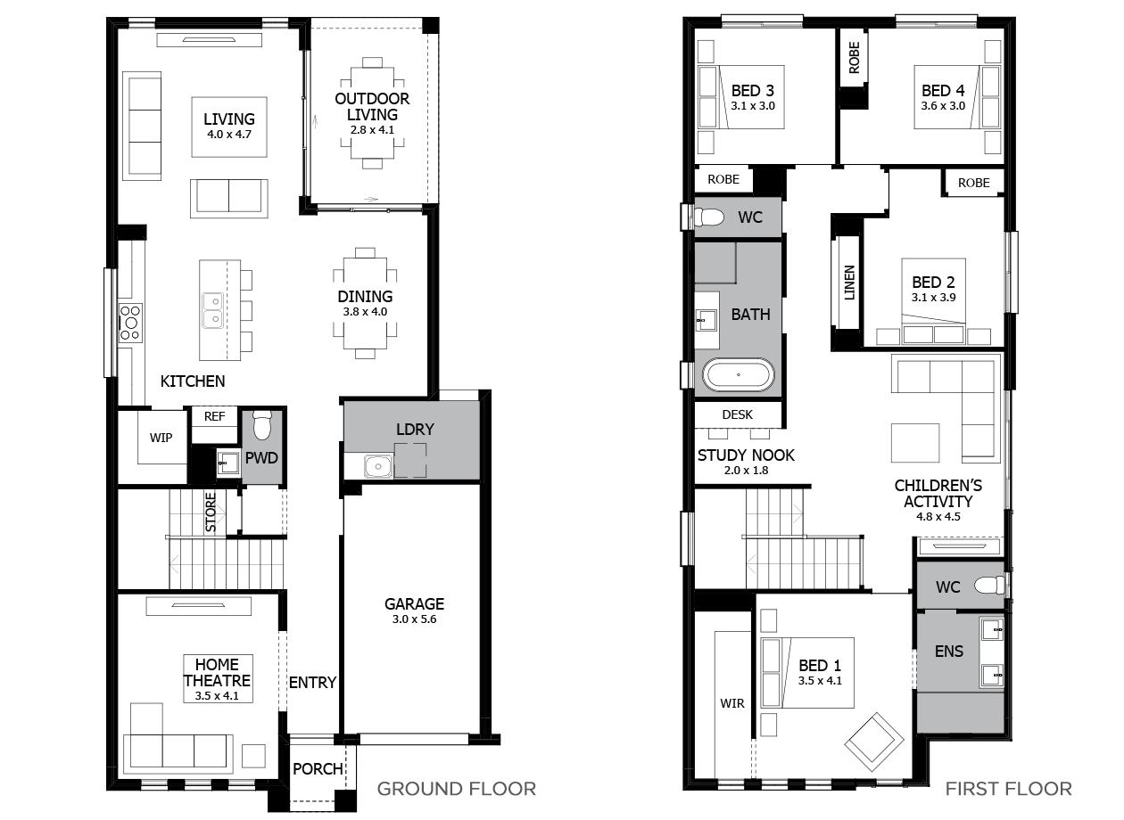 Haven 26-Double Storey House Design-4 Bedroom