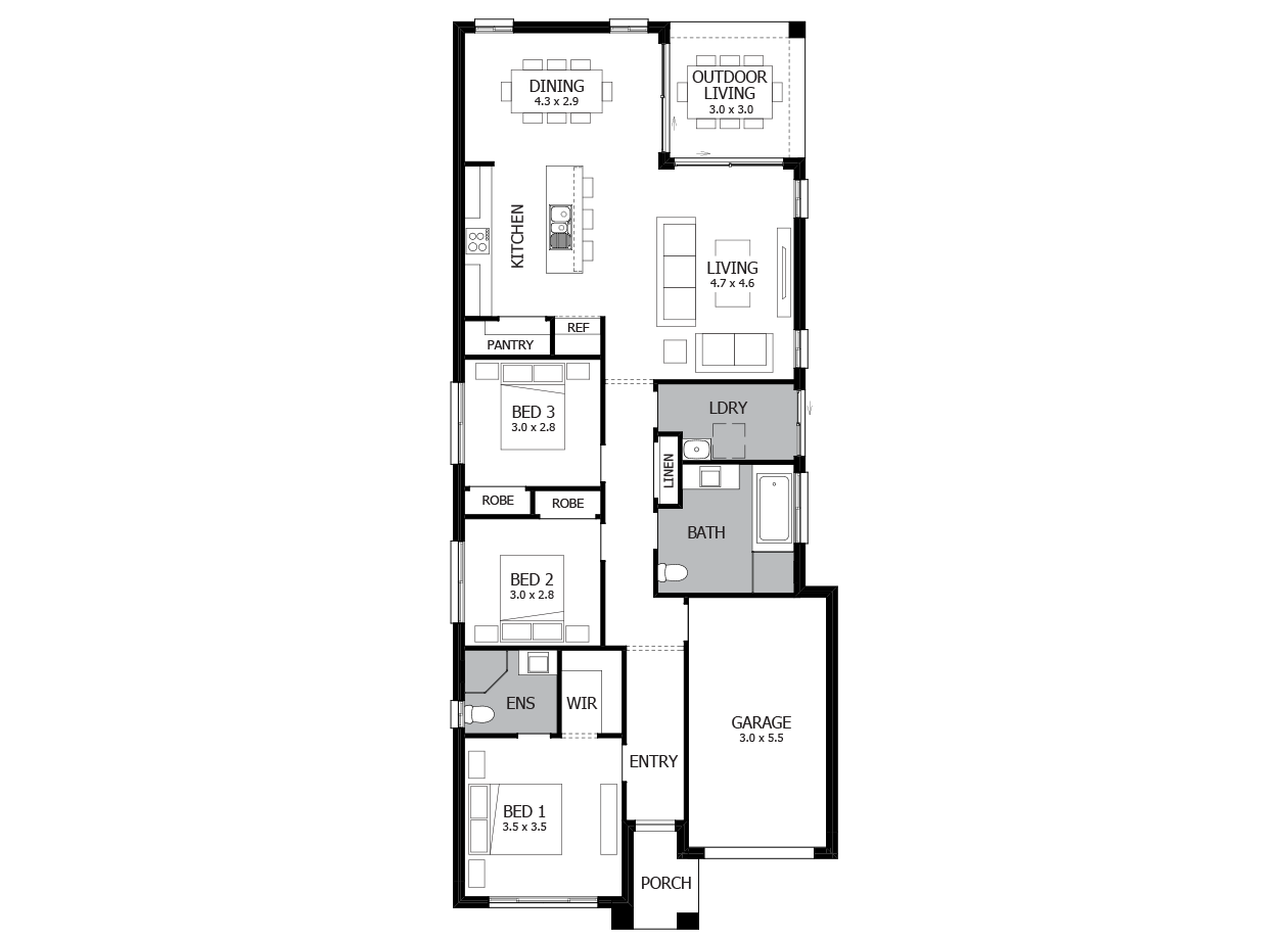 Jazz 17-Single storey house plan