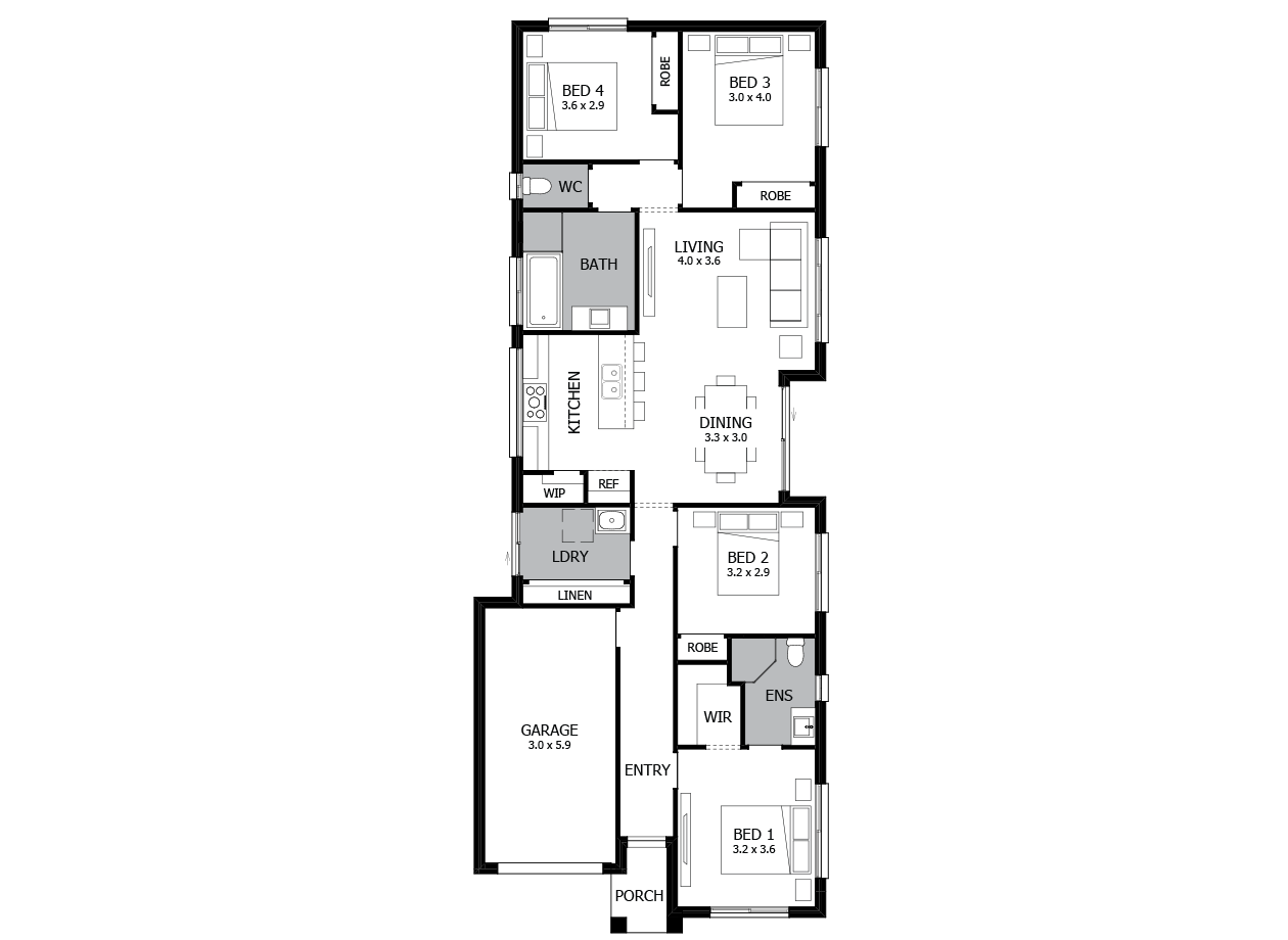 Leura 16-Single storey house plan