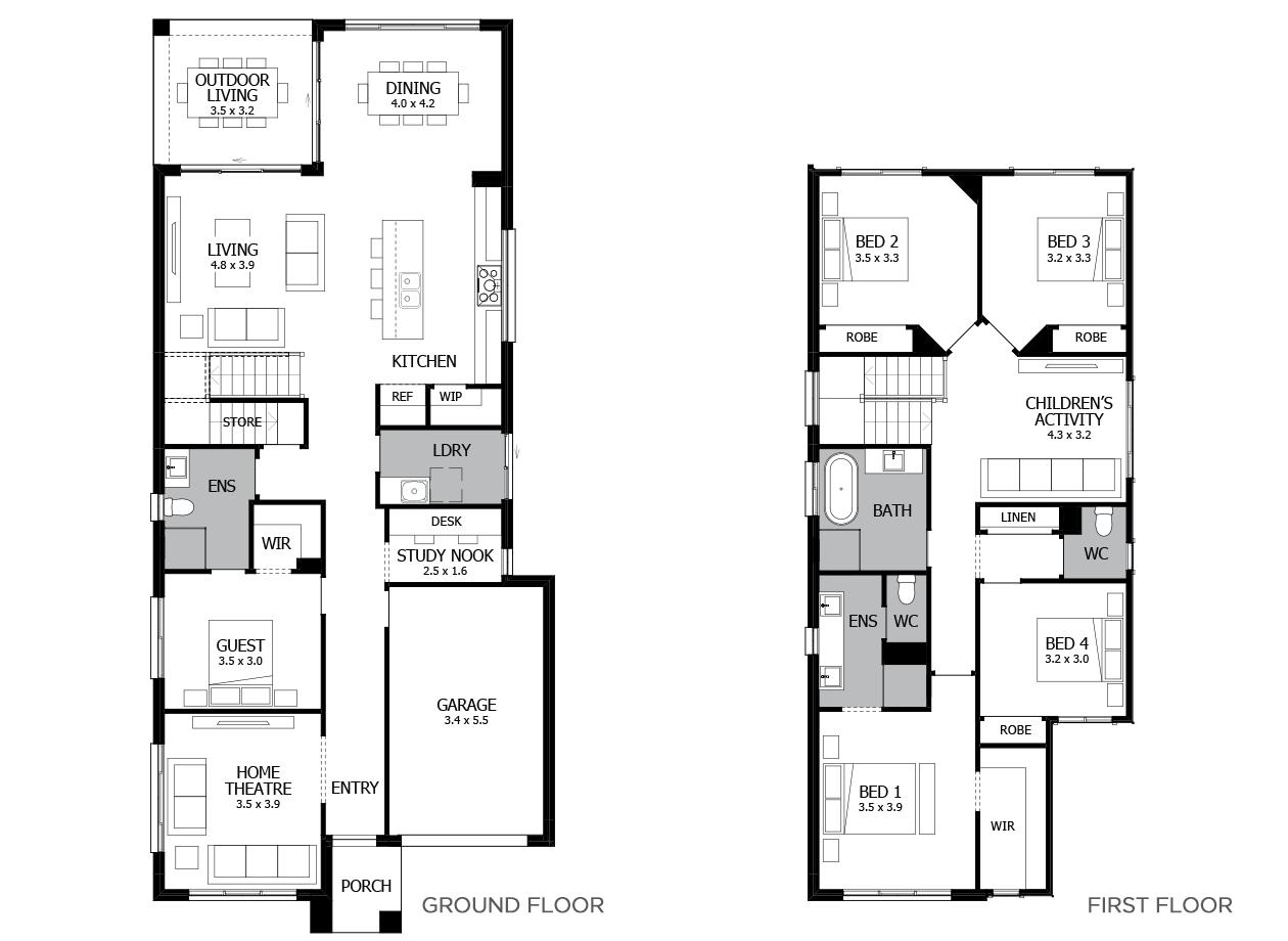 Lido 28-Double Storey House Design-5 Bedroom