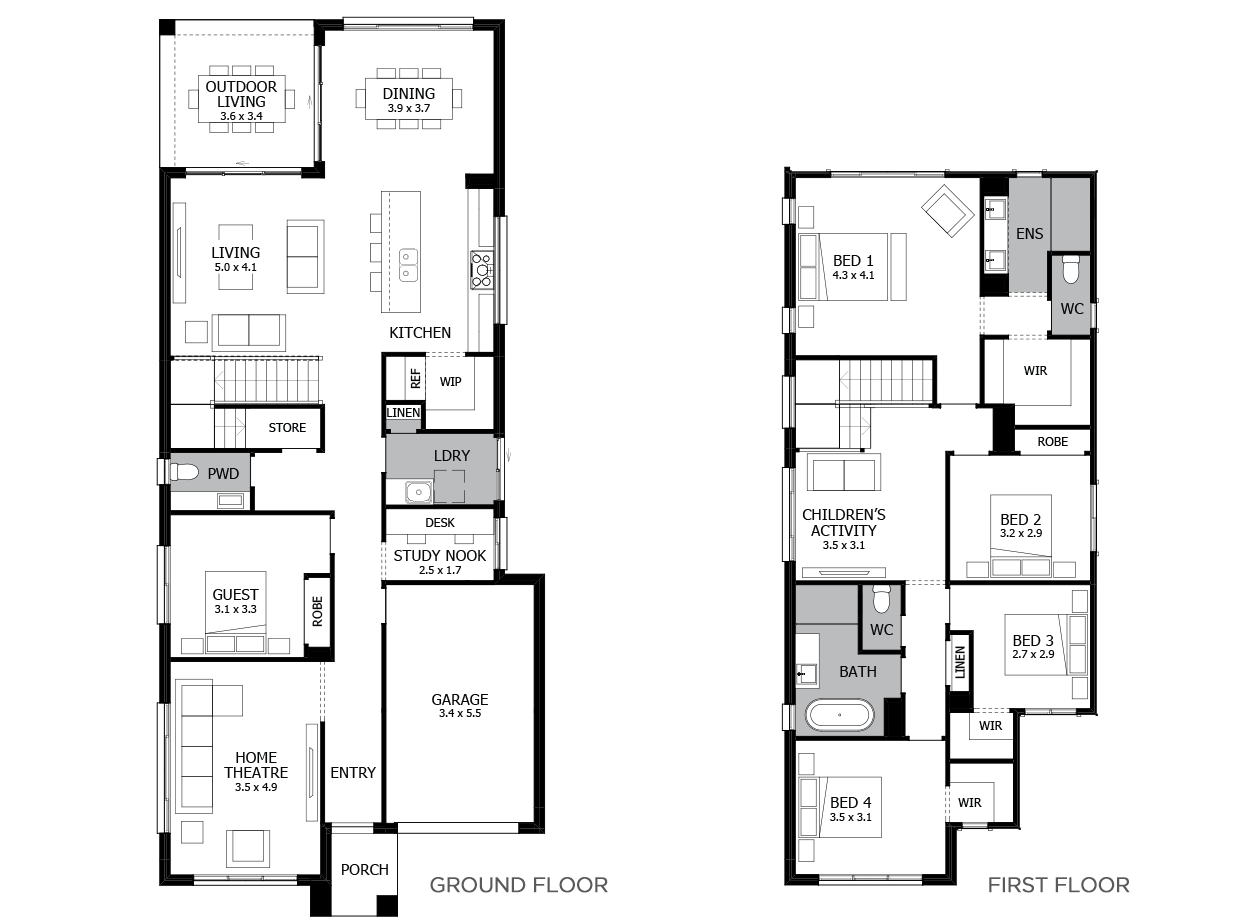 Lido 29-Double Storey House Design-5 Bedroom