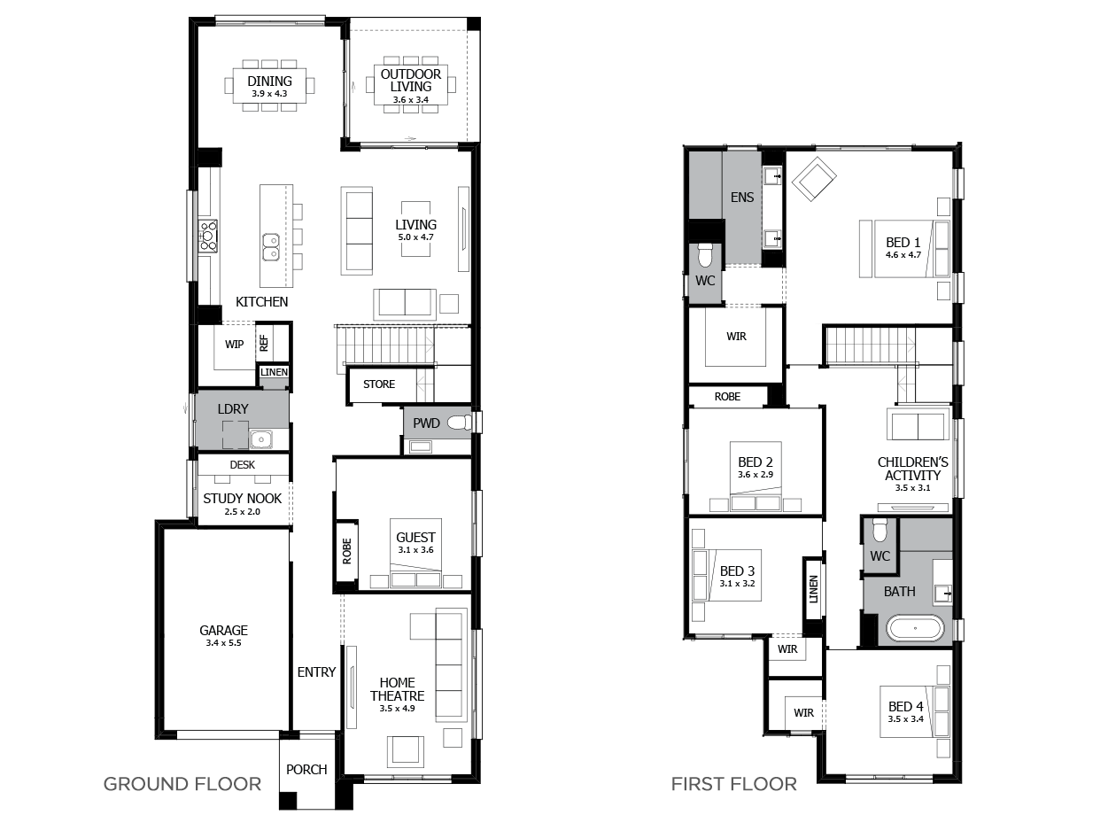 Lido 31-Double Storey House Design-5 Bedroom