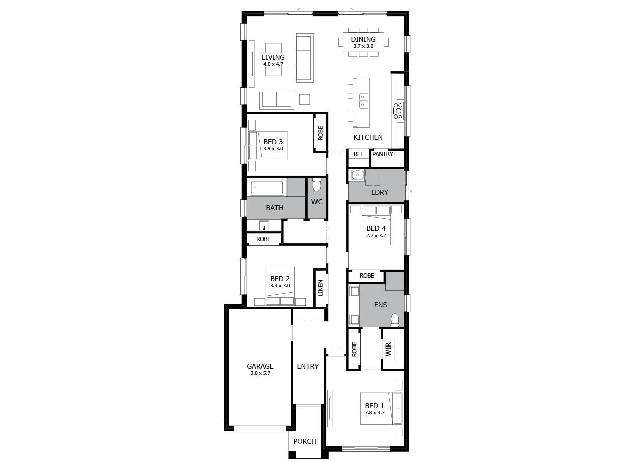 Linden 19-Single storey house plan