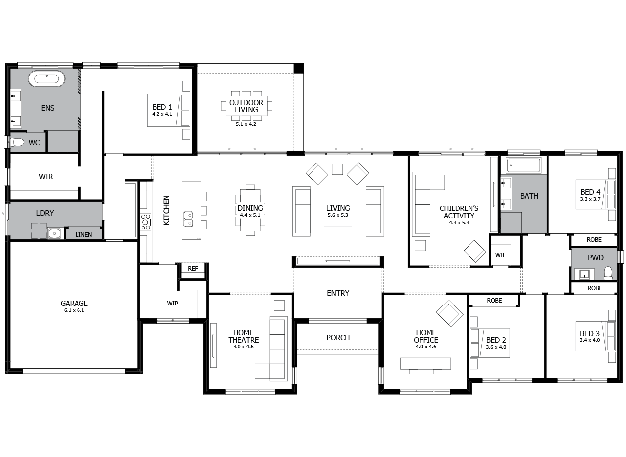 Locksley 41-Acreage House Design-4 bedroom