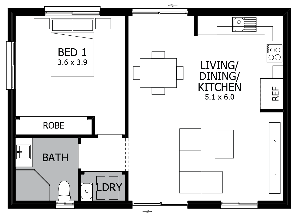 Magnolia-Granny Flat House Plan