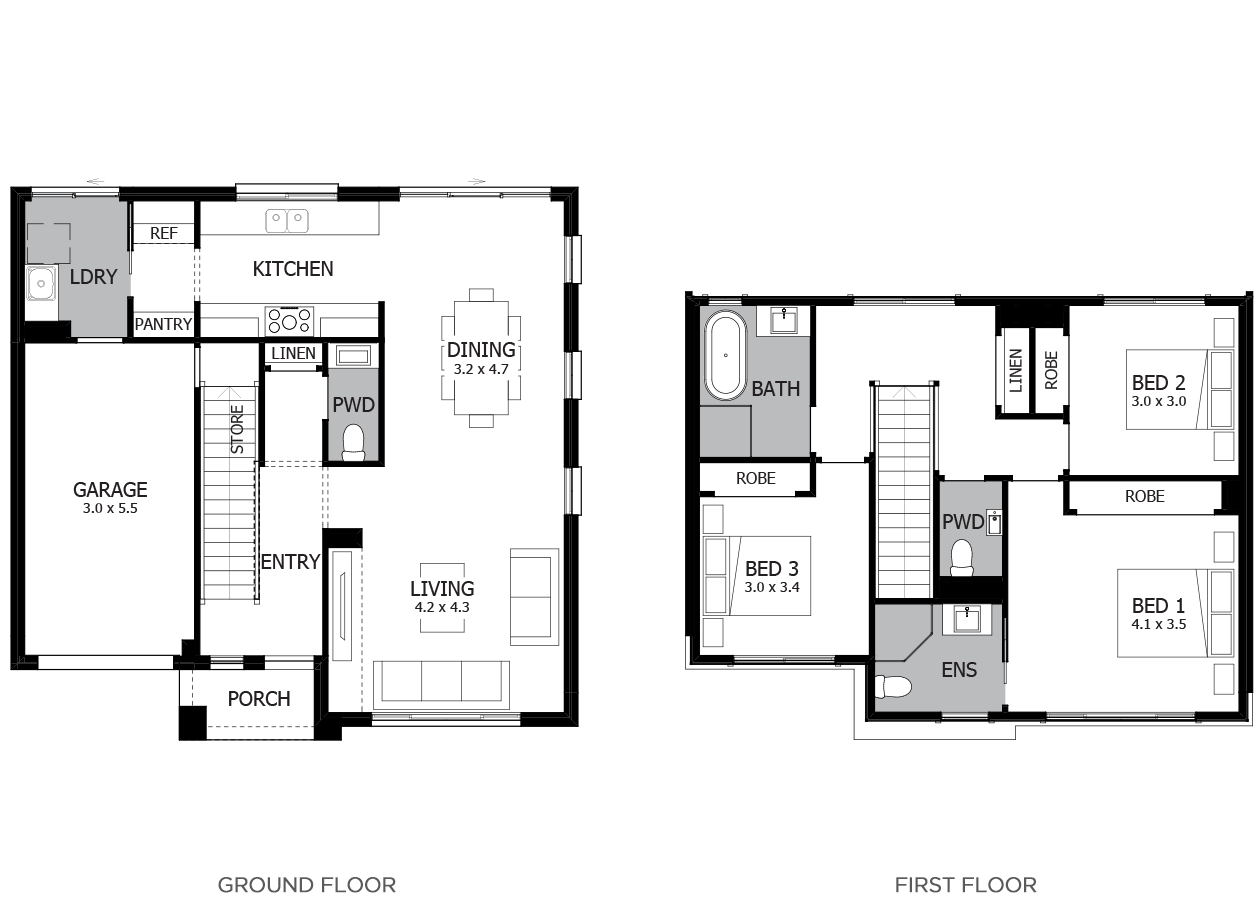 Narrabeen 17-Double Storey House Design-3 Bedroom