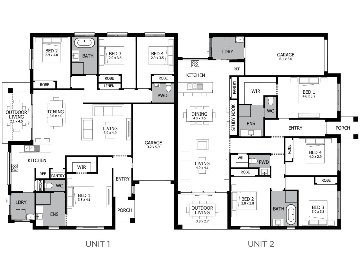 Northcott-Duplex house plan
