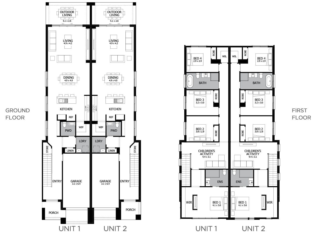 Richmond-Duplex house plan
