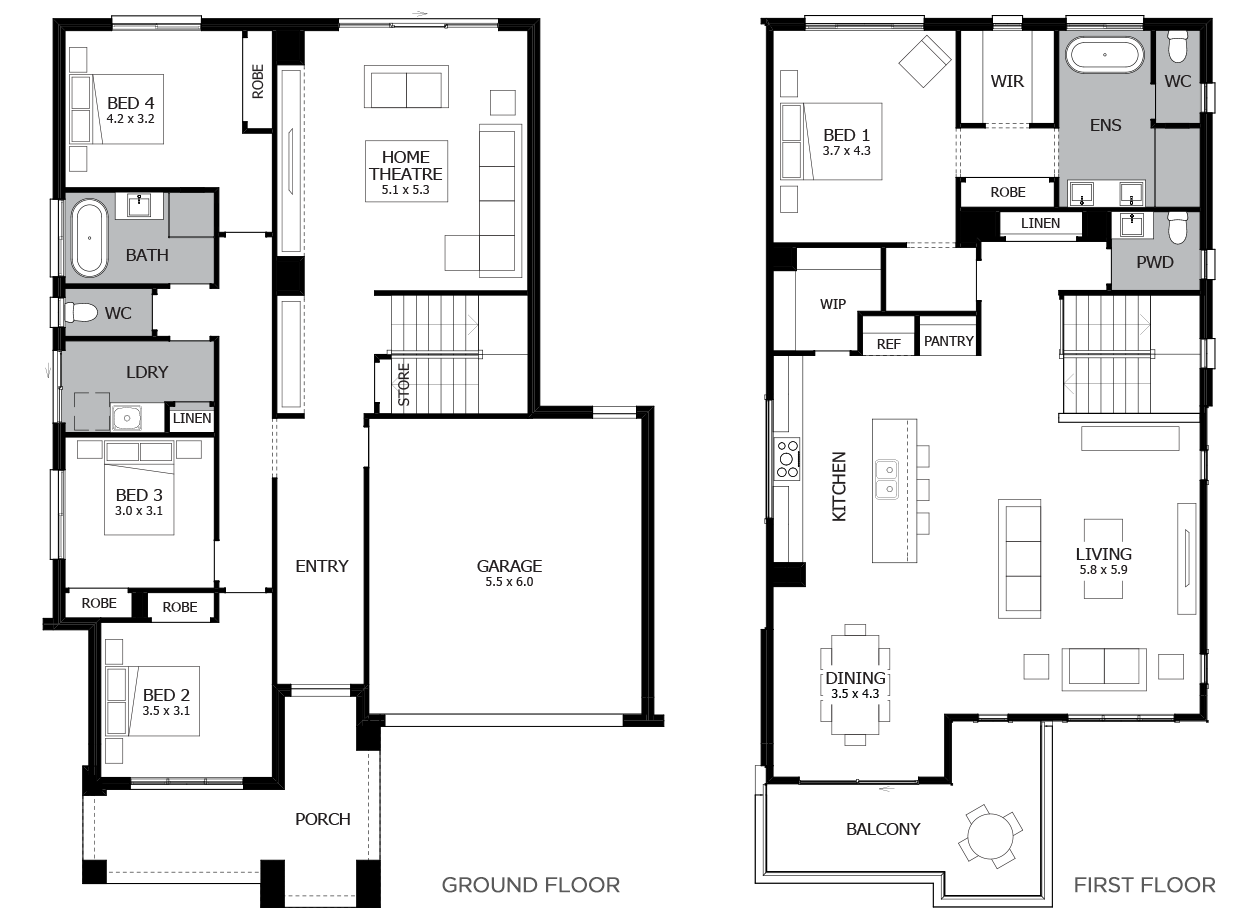 Seabreeze 35-Double Storey House Design-4 Bedroom