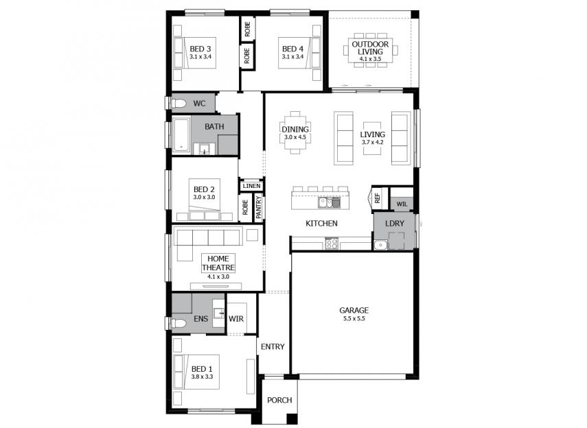Samba Single Storey House Design With 4 Bedrooms Mojo Homes