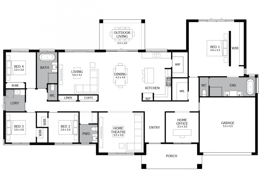 Carrington Grand Acreage Home Design With 4 Bedrooms Mojo Homes