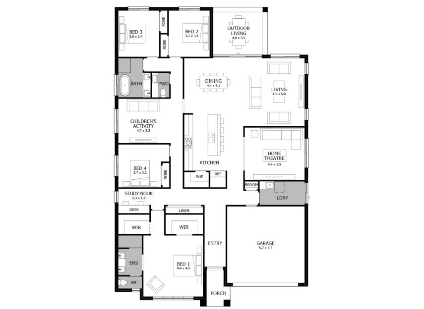 Symphony Single Storey House Design With 4 Bedroom Mojo Homes