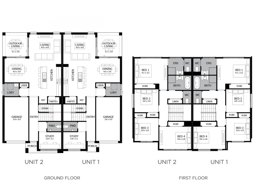 Cleveland Duplex Home Design With 8 Bedrooms Mojo Homes